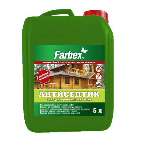Antiseptic for wooden surfaces