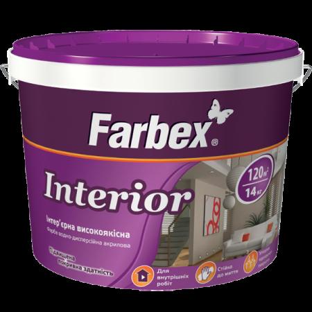 Farbex Interior - Фарба інтер'єрна високоякісна водно-дисперсійна акрилова