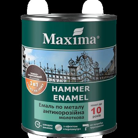 Maxima Емаль антикорозійна по металу 3 в 1, молоткова