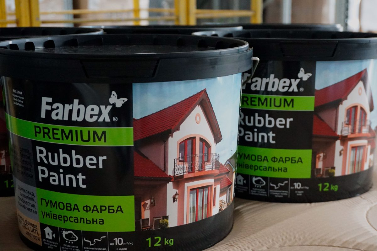 Application of rubber paint