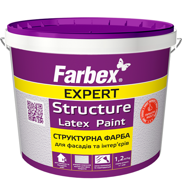 Structural latex paint