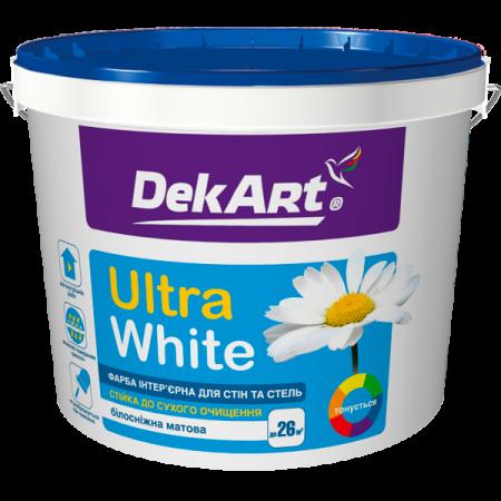 DekArt Ultra White - Фарба інтер'єрна для стін та стель білосніжна