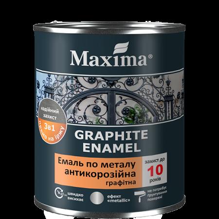 Maxima Емаль антикорозійна по металу 3 в 1, графітна